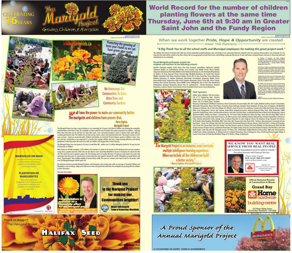 The Marigold Project Telegraph Journal 2013